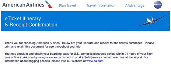 American Airlines phishing emails